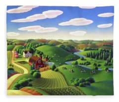Dairy Farm  Fleece Blanket