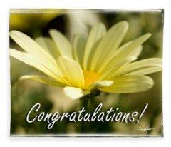 Daisy Congrats Fleece Blanket