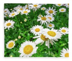 Daisy Garden Fleece Blanket