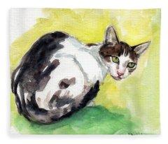 Daisy Or Little Singer Fleece Blanket