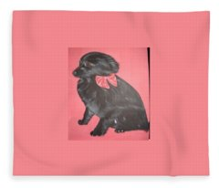Daisy Scared Little Dog Fleece Blanket