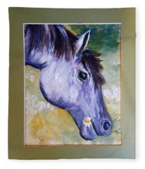 Daisy The Old Mare     52 Fleece Blanket