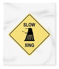 Dalek Crossing Fleece Blanket