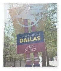 Dallas Arts District Fleece Blanket