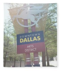Dallas Arts District Fleece Blanket