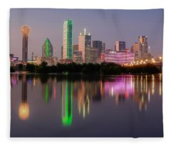 Dallas City Reflection Fleece Blanket