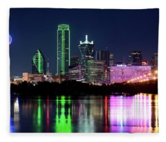 Dallas Colorful Night 52716 Fleece Blanket