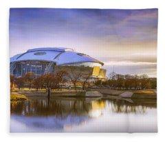 Dallas Cowboys Stadium Arlington Texas Fleece Blanket
