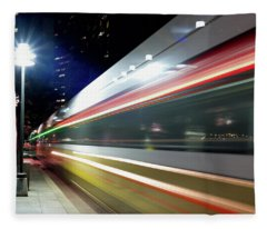 Dallas Dart Train 012518 Fleece Blanket