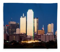 Dallas Golden Pano Fleece Blanket