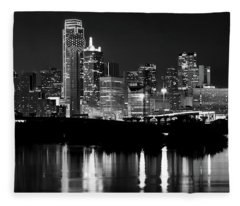 Dallas Nights Bw 6816 Fleece Blanket