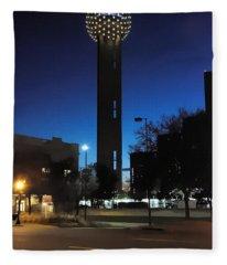 Dallas Reunion Tower Fleece Blanket