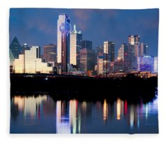 Dallas Skyline May 2015 Fleece Blanket