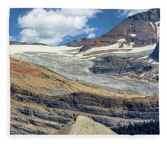 Daly Glacier And Yoho National Park Adventure Fleece Blanket