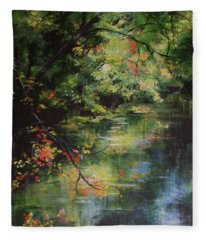 Dance Of Color And Light Fleece Blanket