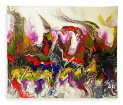 Dance Of Flames Fleece Blanket