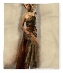 Dance Of Gold Fleece Blanket