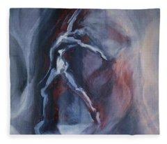 Dancing Figure Fleece Blanket