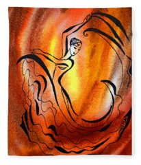 Dancing Fire I Fleece Blanket