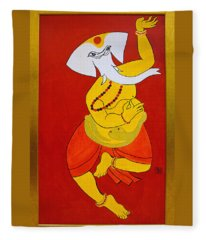 Dancing Ganesha Fleece Blanket