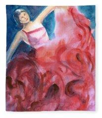 Dancing Girl Fleece Blanket