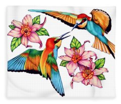 Dancing Bee-eaters  Fleece Blanket