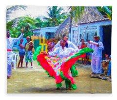 Dancing In The Streets Fleece Blanket