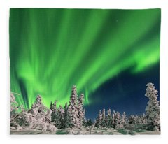 Dancing Lights Fleece Blanket