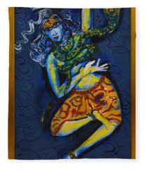 Dancing Shiva Fleece Blanket