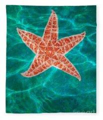 Dancing Starfish Fleece Blanket