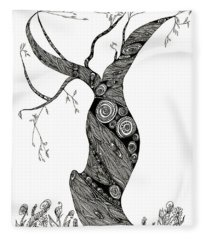 Dancing Tree Fleece Blanket