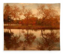 Dancing Trees - Lake Carasaljo Fleece Blanket