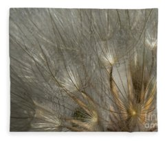Dandelion 3 Fleece Blanket
