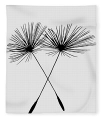 Dandelion Duo  Fleece Blanket