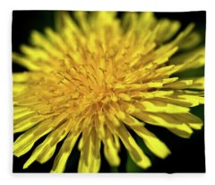 Dandelion Flower Fleece Blanket
