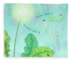 Dandelion Wish Fleece Blanket