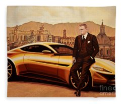 Daniel Craig As James Bond Fleece Blanket