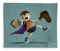 Daniel The Brave Fleece Blanket