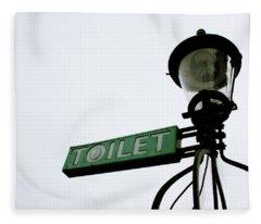 Toilet Photographs Fleece Blankets