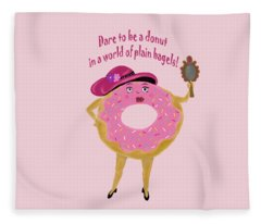 Dare To Be A Donut Fleece Blanket