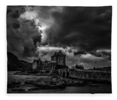 Dark Clouds Bw #h2 Fleece Blanket