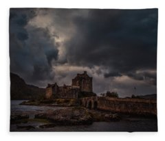 Dark Clouds #h2 Fleece Blanket