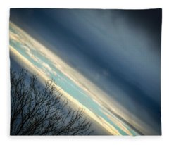 Dark Clouds Parting Fleece Blanket