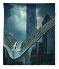 Dark Day At Ground Zero Fleece Blanket