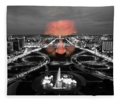 Dark Forces Controlling The City Fleece Blanket
