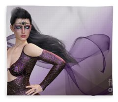 Dark Lady Fleece Blanket