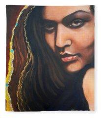 Dark Soulful Latin Eyes          From The Attitude Girls Fleece Blanket