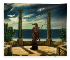 Dark Magic At Sunset By The Hudson Fleece Blanket