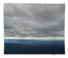 Dark Mountains Fleece Blanket
