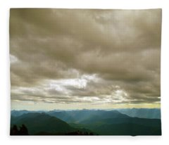 Dark Mountains Too Fleece Blanket